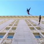 重力を超えたバレエ?壁の上で踊る男女がすでにマトリクスを超えている