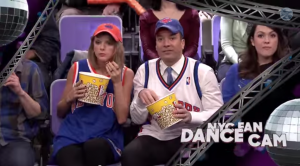Jimmy Fallon and Taylor Swift Jumbotron Dancing   YouTube5
