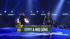 KRNFX   Mike Song   Red Bull BC One World Finals 2013   THE DANCEBOX  Dancing   Beatboxing Showcase   YouTube3