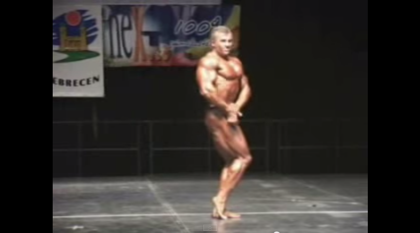 Pop and lock bodybuilder robot dance muscle event   YouTube