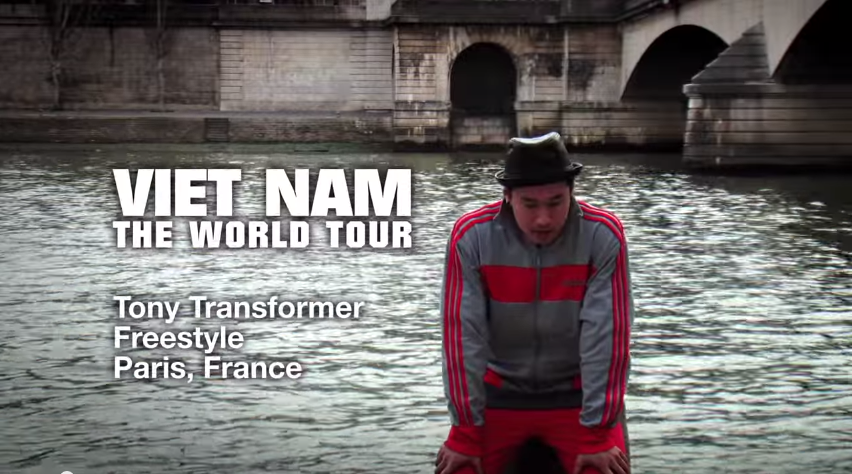 Tony Tran a.k.a. Tony Transformer Freestyles in Paris   YouTube2