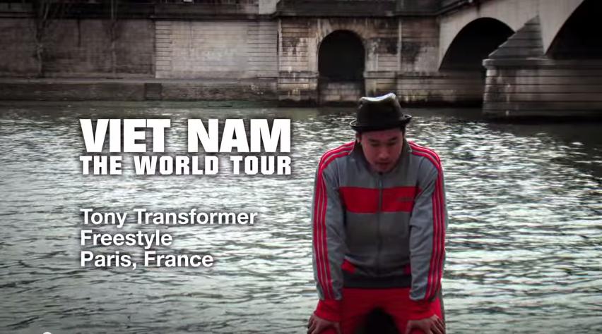 Tony Tran a.k.a. Tony Transformer Freestyles in Paris   YouTube2